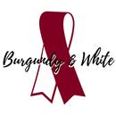 Burgundy & White