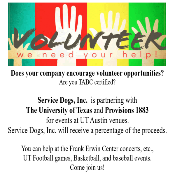 University Of Texas Events Service Dogs Inc Givegab
